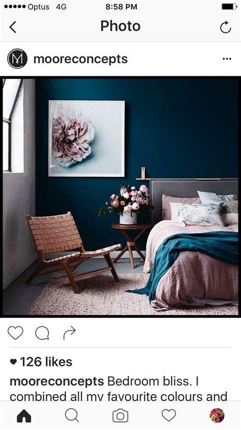 Bedrooms Pink - dulux forest blues paint colour pinterest bedrooms interiors and bedroom inspo