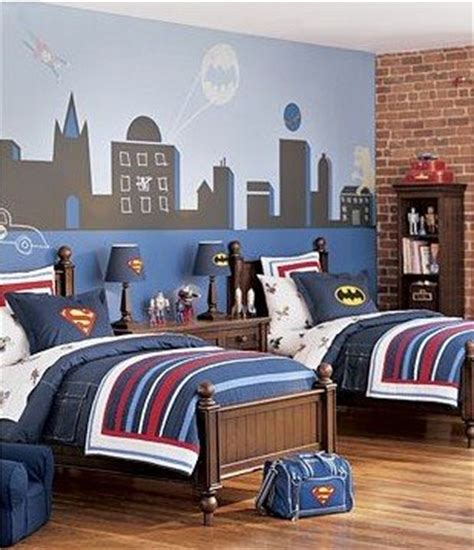 batman bedroom 18 blue red batman superman superhero mural kids room
