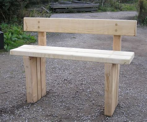 green oak bench natural fsc green oak rustic parkland back bench chris