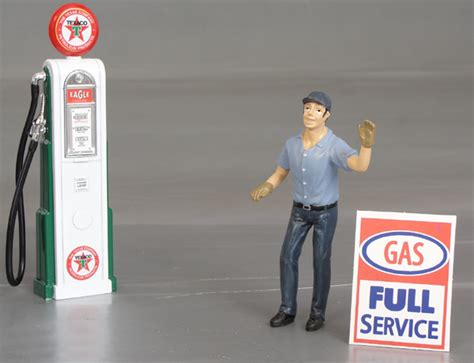 eric quot the gas station attendant quot diorama display details diecast cars diecast model cars
