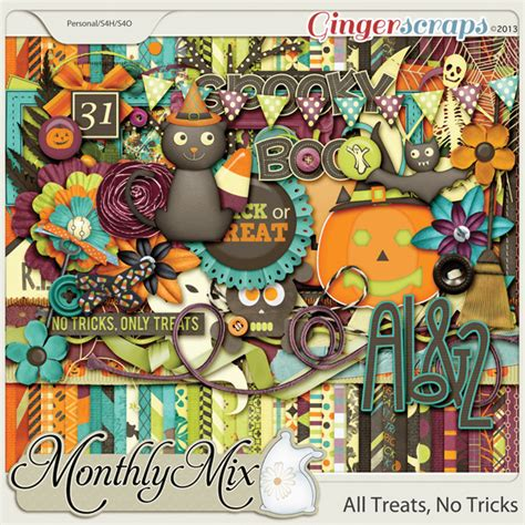 No Tricks All Treats by Gingerscraps Collabs And Duos Monthly Mix All