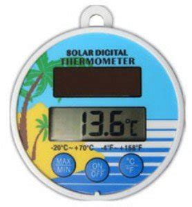 Digital Thermometer Amt 4103 T solar powered digital floating pool pond thermometer co uk garden outdoors