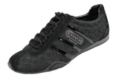 coach remonna sneaker black coach remonna signature c logo black fabric patent