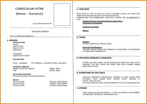 format of a cv writing 5 how to write cv exle emt resume