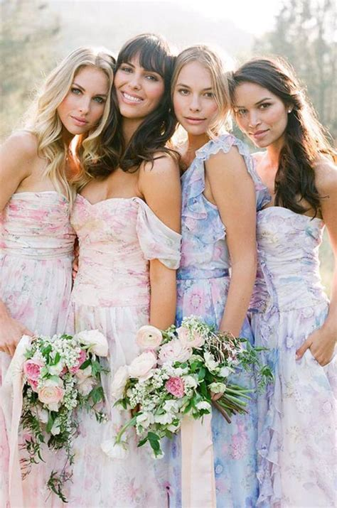 floral print bridesmaid dresses  plum pretty sugar