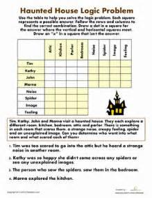 haunted house logic problem worksheet education com