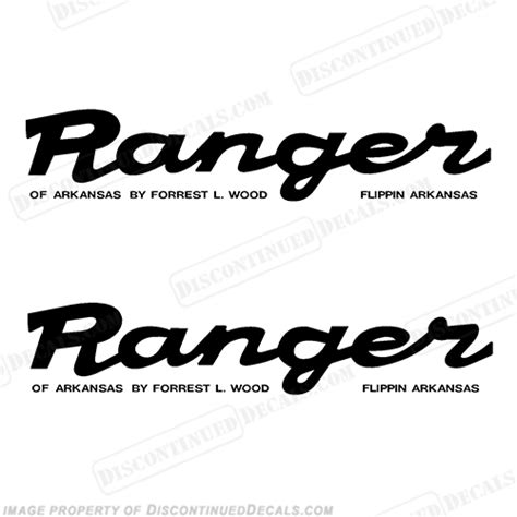 scarab boat logo font ranger script style decals set of 2 any color