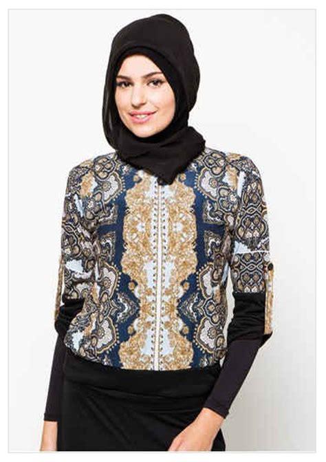 Pakaian Busana Muslim Wanita Dgn Bordir model baju batik muslim atasan wanita 2016 koleksi