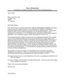 Executive Resume Cover Letter Examples it executive cover letter sample resume cover letter
