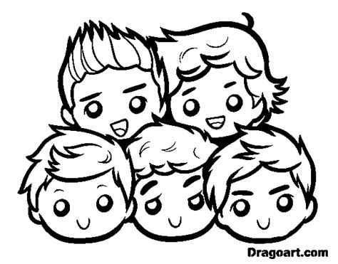 One Direction 2 dibujo de one direction 2 para colorear dibujos net