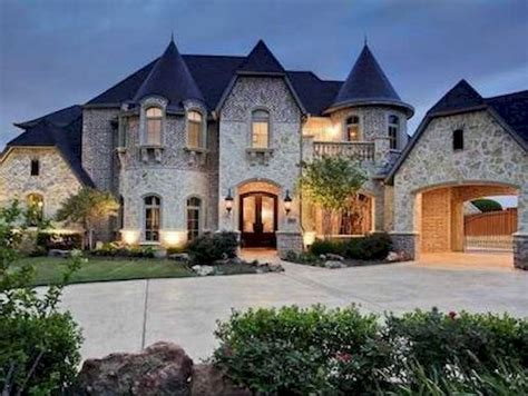 40 modern castle homes exterior landscaping roomadness