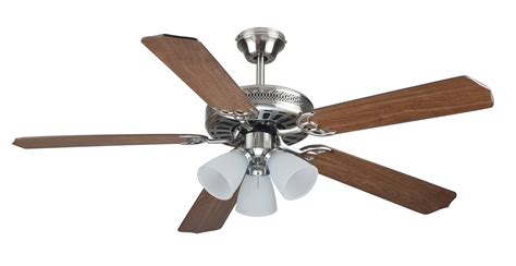 cool breeze eb52037 52in brushed nickel ceiling fan