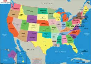 us map with capitals 50 states and capitals us state