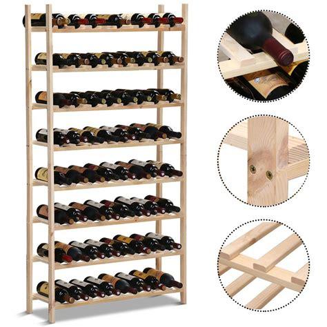 wooden wine rack 120 bottle storage holder pine wood