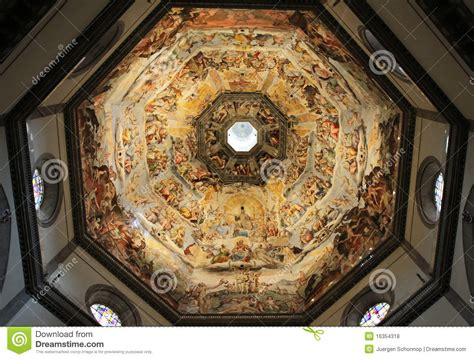 duomo florence dome ceiling fresco dome of florence cathedral royalty free stock photos