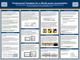 ppt professional template for a 48x36 poster