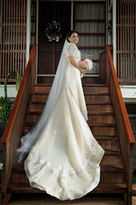 Piña Bridal Gown   Spanish Hacienda Wedding   Filipiniana