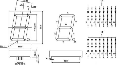 segment white   mm single digit led specs