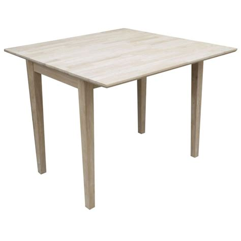 Square Table With Leaf by International Concepts 30 In Unfinished Wood Pedestal Dining Table K 30rt The Home Depot