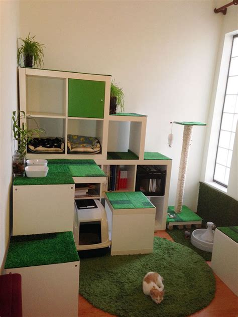 apartment diy diy cat apartment storage and play area ikea hackers