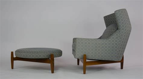 big chair and ottoman rare jens risom quot big chair quot with ottoman at 1stdibs