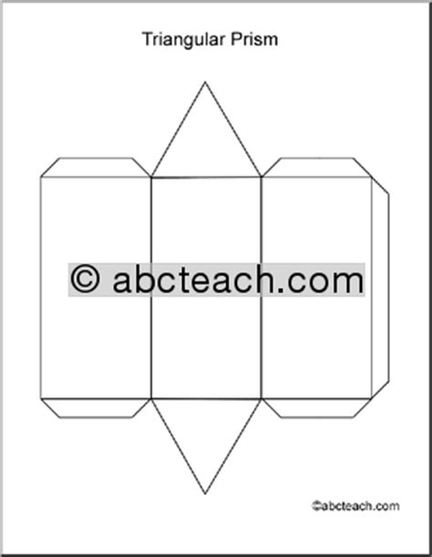 How To Make A Triangular Prism Out Of Paper - geometry triangular prism abcteach