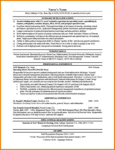 Resume Templates For Experienced Nurses 6 Experienced Nursing Resume Sles Financial Statement Form