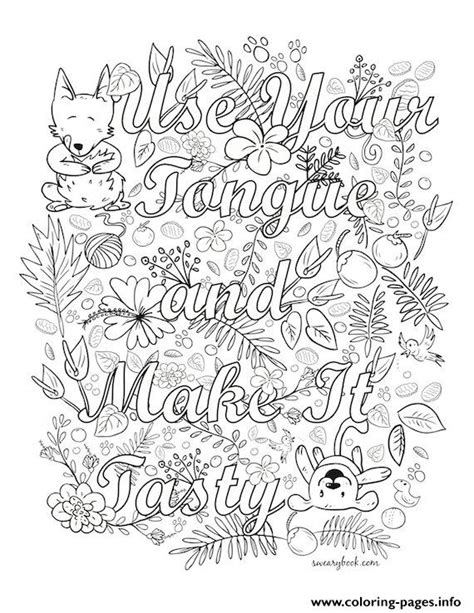 uses for coloring book pages quotes use your tongue coloring pages printable