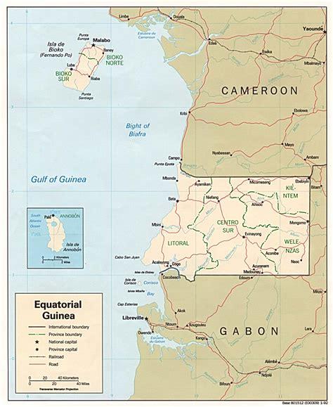 guinea ecuatorial map equatorial guinea maps perry casta 241 eda map collection