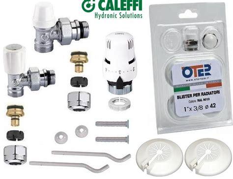 rubinetto termosifone kit termosifone tappi borchie staffe valvola termostatica