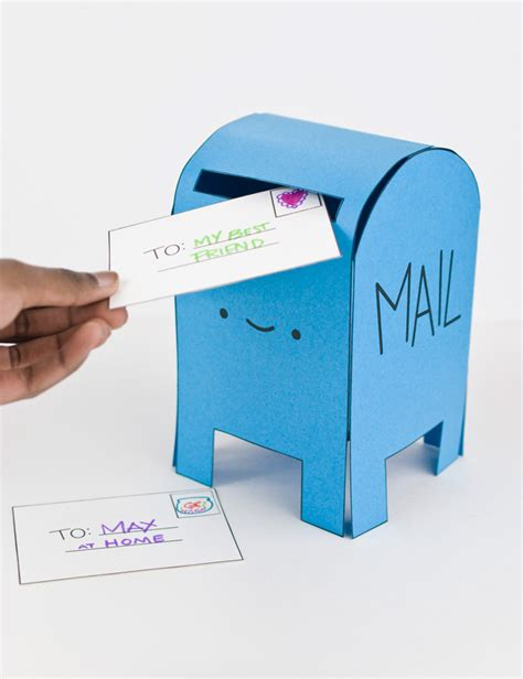 How To Make A Post Box Out Of Paper - pretend play with a printable happy mail box handmade