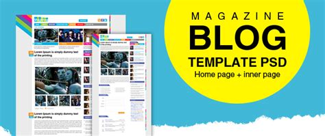 premium magazine blog template psd for free download