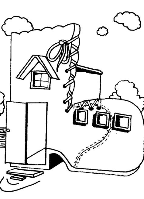 shoe house coloring pages old farm house coloring pages page image clipart images