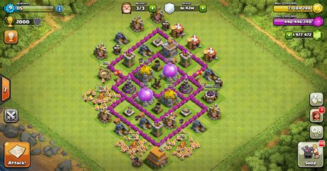 layout coc th 6 yang kuat farming base clash of clans th 6 layout design base