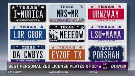 best personalized license plates of 2016 khou