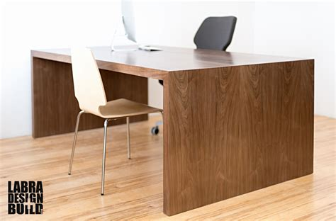 Walnut Desk Modern Modern Walnut Desk Custom Sizing Available Starting At 995 Labra Design Build