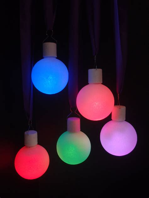 Led Color Changing Ornament Ball Light 5 Pack Ornaments With Lights