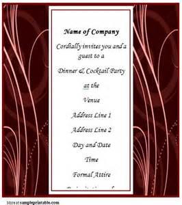business dinner invitation printable business dinner