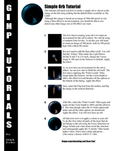 gimp tutorial pdf free download simple orb tutorial by the gimp on deviantart