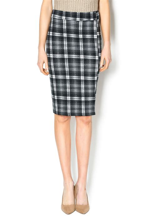 bishop plaid pencil skirt from by v x