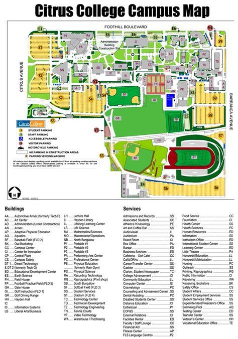 citrus college map citrus college maplets