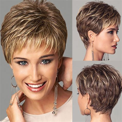 pixie wigs for women fashion short bob wigs for black women ombre blonde brown