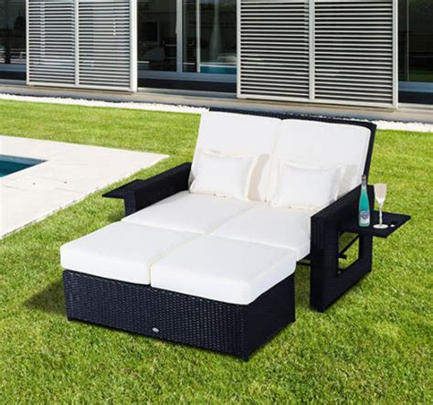 Rattan Patio Chaise Lounge by Patio Rattan Wicker Chaise Lounge Furniture Set Sofa