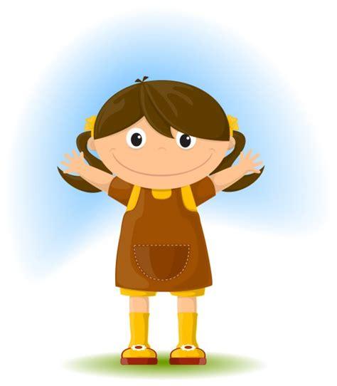 imagenes animadas de una niña dibujo animado de ni 241 a adorable descargar vectores gratis