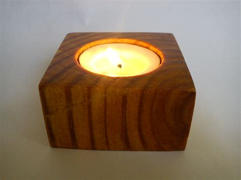 greekproducts24 tea light candle holder from pinewood