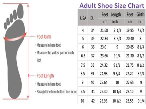 shoe size chart global shoe chart size international