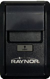 rgd raynor wall control station instructions security