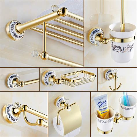 Popular Gold Bathroom Accessories Sets Buy Cheap Gold Gold Bathroom Accessories Sets