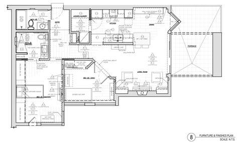 corey klassen interior design furniture finishes plan