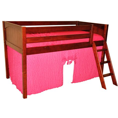 loft bed playhouse curtains hot pink ruffle playhouse w maxtrix kids bunk or loft bed